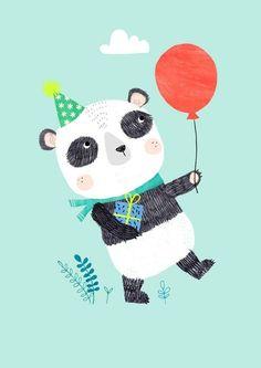 Petit Monkey Postkaart Panda