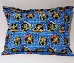 TMNT Handmade Bed Pillow, Daycare Pillow, Ninja Turtles, Travel Pillow, Toddler Pillow, Throw Pillow, Accent, Child,  Pet Pillow, Decor by ItyBityBigGirlStore on Etsy