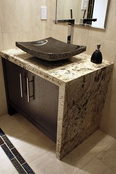 Granite Bathroom Countertops With Sink History Stone Pinterest And
