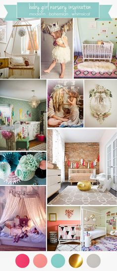 Baby Girl Nursery Inspiration: modern, bohemian, whimsical