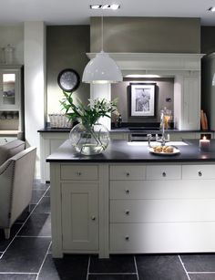 A Suffolk fitted kitchen in the Neptune showroom at Browsers Furniture Co. Limerick, Ireland.