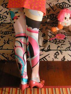 Emilio Pucci 60's   Emilio Pucci for Wolford tights, $60 ebay last year