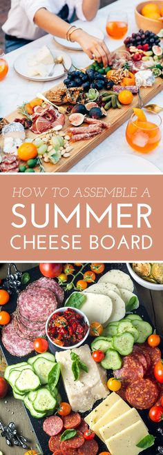 How to Assemble a Summer Cheese Board // Tailor your cheese board to the season with these unique combinations and presentation ideas!