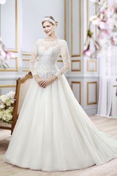 Moonlight-collection-spring-2016-wedding-dresses-beautiful-a-line-gown-sheer-bateau-neckline-long-sleeves-lace-j6397
