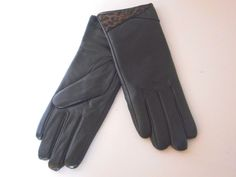 women's La Fiorentina sheepskin gloves fleece lining animal print one size  #LaFiorentina #EverydayGloves