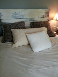Worn Painted Headboard Willow by Reclaimvintagecharm on Etsy, $150.00