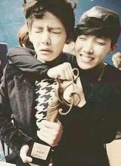 V & J Hope Taehyung.  BTS