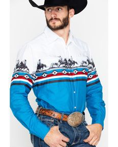 Roper Men's West Made Border Horse Shirt has you sorted for all your wild and western events this season. Country Shirts, Western Shirts, Western Wear, Western Style, Rodeo Outfits, Grunge Outfits, Rodeo Clothes, Work Shorts, Cowboy Up