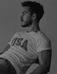 Newly released photo from Chris' photoshoot by John Tsiavis, 2016.