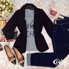 Skinny Jeans Back . Skinny Jeans Back Casual Work Outfits, Blazer Outfits, Business Casual Outfits, Chic Outfits, Trendy Outfits, Fall Outfits, Fashion Outfits, Womens Fashion, Saturday Outfit
