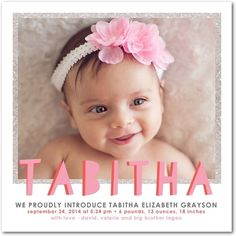 Let your little one shine with this new photo birth announcement!