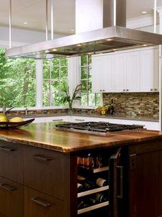 Kitchen Island & Wine Cooler