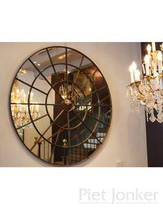 Ijzeren ronde spiegel