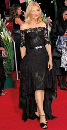 Cate Blanchett in Alexander McQueen at the 2007 Golden Globes