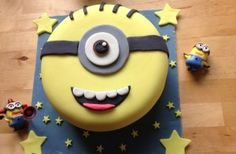 goodtoknow user Kimberley says: 'This is my homemade Minion cake. It's the first iced cake I've ever made!'