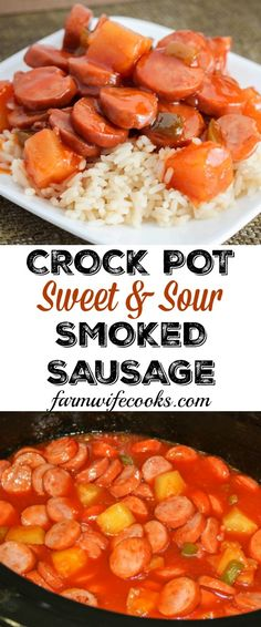 Sweet and Sour Smoked Sausage is a yummy recipe that can be made as an appetizer or over rice for a meal.