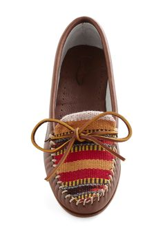 New Road Flat from ModCloth. Brand: 2568. Leather. $119.99. These shoes are SUPER nice, I'd love a pair.