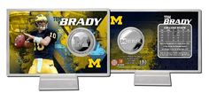 "AAA Sports Memorabilia LLC - Tom Brady ""Michigan"" Silver Coin Card, #tombrady #michigan #wolverines #michiganwolverines #ncaa #sportscollectibles $19.95 (http://www.aaasportsmemorabilia.com/collegiate/tom-brady-michigan-silver-coin-card/)"