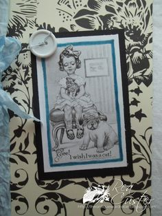 Adorable vintage-themed card.