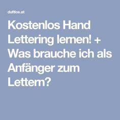 Kostenlos Hand Lettering lernen! + Was brauche ich als Anfänger zum Lettern?