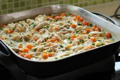 Easy Chicken and Vegetable Casserole.