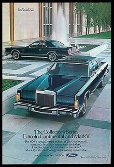 Lincoln Continental Mark V Classic 1979 Automobile Kennedy Center Ad