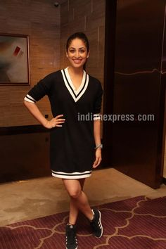 Yami Gautam all smiles at #SanamRe success bash. #Bollywood #Fashion #Style #Beauty #Hot #Cute