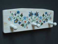 lovely wooden wall hanger folk cottage country by folkmania coat rack, wall hanger, wall rack
