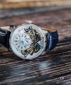 Carl von Zeyten CVZ0064WH - zegarek Oberkirch Dual Balance Automatic • Zegarownia.pl Watches, Accessories, Wristwatches, Clock, Ornament