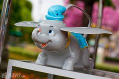 Fun new Dumbo the Flying Elephant souvenir popcorn buckets available now at Disneyland!