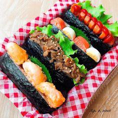 この秋冬に作りたい! #おにぎり アレンジ最旬コレクション2018|#おうちごはん Onigiri Recipe, My Favorite Food, Favorite Recipes, Cute Desserts, Tasty, Yummy Food, Cute Food, Japanese Food, No Cook Meals