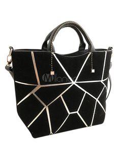 Elegante forma cilíndrica PU couro Tote Bag para mulheres - Milanoo.com