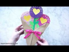 Valentine's Day Paper Flowers Craft | I Heart Crafty Things