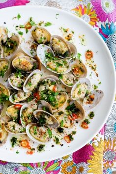 Clams in Chili Cilantro Oil  | G-Free Foodie #GlutenFree