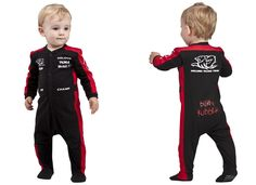 baby race suit. How stinkin' adorable, could match her papaw