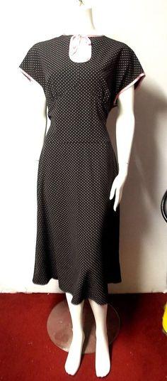 Stop Staring dress 3X 18 2x Rockabilly black pink polka dots repro cap sleeve  #StopStaring #Repro #LittleBlackDress