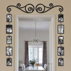 DIY Scroll Doorway Picture Frame Set