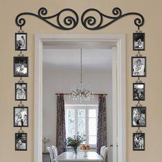 DIY Scroll Doorway Picture Frame Set
