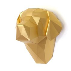 Cabeza de labrador en papel para armar. Sculptures, Diy, Club, House, Inspiration, Collection, Decor, Unconditional Love, Bias Tape