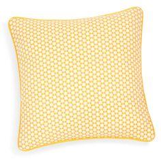 Housse de coussin en coton jaune/grise 40 x 40 cm PORTIMAO