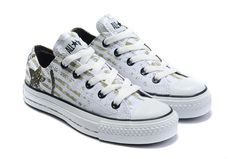 299315defcb0 2012 Converse White New Seal Letter Brown Logo Low Top Canvas Shoes