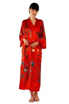 19a2d157f8 TexereSilk Women s Luxury Silk Kimono Robe (Graza