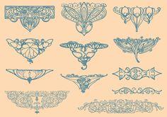 art-nouveau-vector-elements.jpg (1400×980)