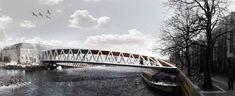 Amsterdam Iconic Pedestrian Bridge Competition Winners,1st prize - Courtesy of Nicolas Montesano, Victor Vila, Boris Hoppek