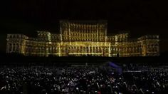 Bucharest Projection Mapping by 3d Video, Projection Mapping, Bucharest, Concert, World, Building, Youtube, Travel, Viajes