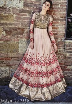 88d6ee89d4 On net fabric and is a kali style floor length anarkali suit elegantly  crafted by zari, stone and sequins embroidery work. Comes with a chiffon  dupatt