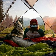 Husband and wife. Camping partners for life