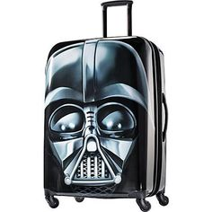 If you've got a Star Wars lover on your list this year, we've got the perfect gift for you: our Star Wars Hardside Luggage feature the options of R2D2, Darth Vader and Storm Trooper and are great for fans of all ages.  	 	These sturdy bags from American Tourister include the following fantastic features:  	Single spinner wheels.	Star Wars branded push button pull handle.	Star Wars branded zipper pulls.	Split construction.	Large mesh pocket on interior of case for packing org...