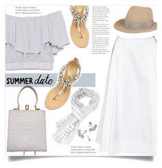 Summer date by lisamichele-cdxci on Polyvore featuring polyvore fashion style Alice + Olivia René Caovilla Fendi Eugenia Kim clothing