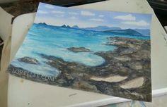 """Kailua Peaks"" by Lorel Lee.  Www.lorellee.com"